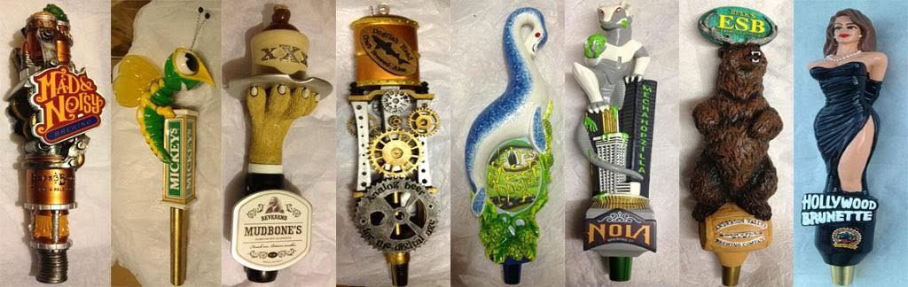 custom-resin tap handles