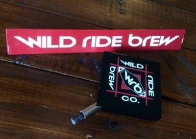 Wild Ride Brewing Beer Tap Handles